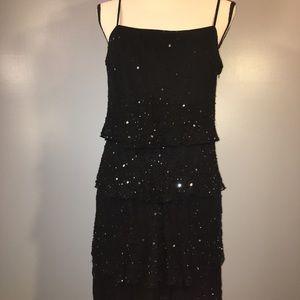 Stenay Vintage 100% Silk Beaded Sequin Dress Sz 14
